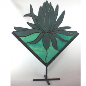 black lotus stained glass stand