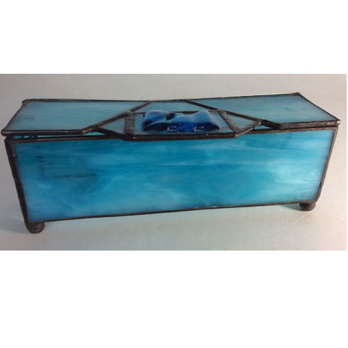 stained glass blue box