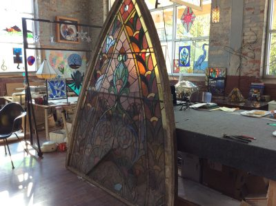 stained glass restoration church window