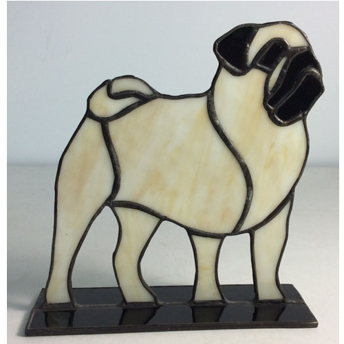 stained glass pug