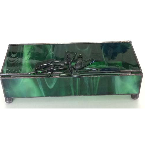 stained glass green box